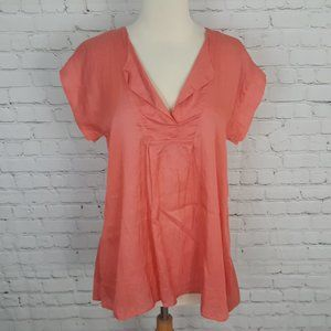 Masai Effie Top Fitted Wide Cuff Tangerine S NWT